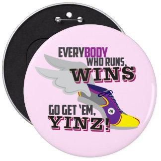 Go Get 'Em, Yinz Pin Purple Marathon Design