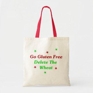 Go Gluten Free Delete The Wheat Canvas Bags
