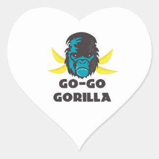 Go-Go Gorilla Heart Stickers