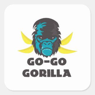 Go-Go Gorilla Square Sticker