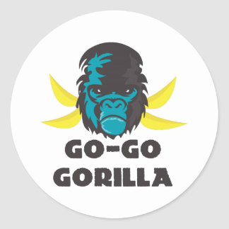 Go-Go Gorilla Round Sticker