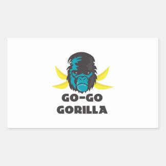 Go-Go Gorilla Rectangular Sticker