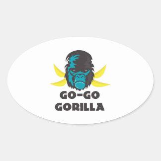 Go-Go Gorilla Oval Sticker