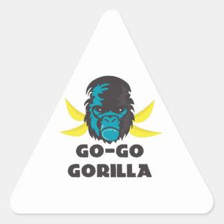 Go-Go Gorilla Triangle Sticker