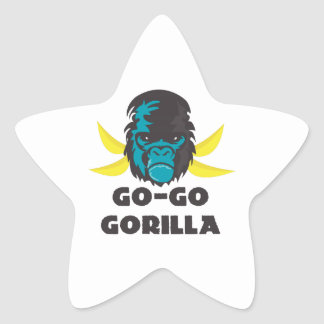 Go-Go Gorilla Star Sticker