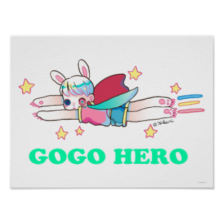 "Go Go Hero 16"" x 12"", Poster Paper (Matte)"