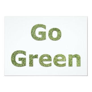 Go Green 13 Cm X 18 Cm Invitation Card