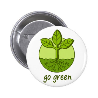 Go Green 6 Cm Round Badge