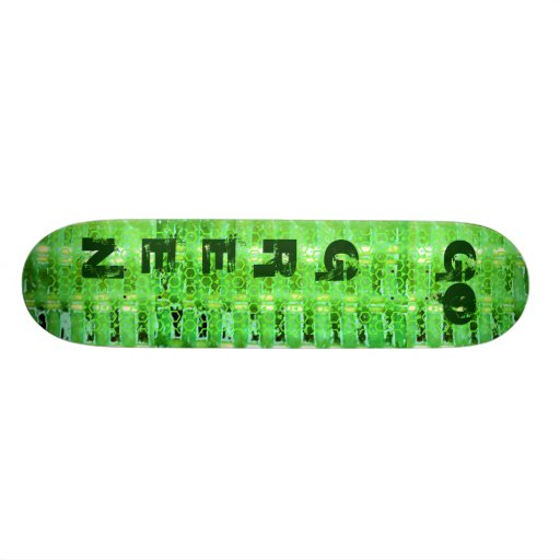Go Green Abstract Skateboard Decks