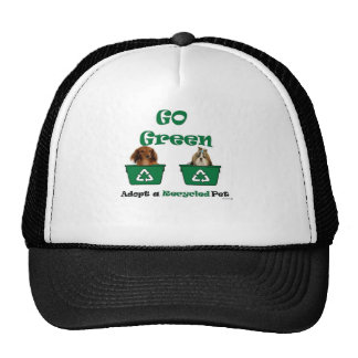 go green adopt a recycled pet mesh hats