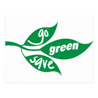 go green and save postcard