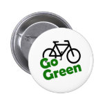 go green bicycle 6 cm round badge