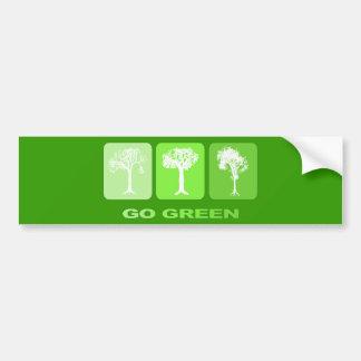 Go Green Car Bumper Sticker