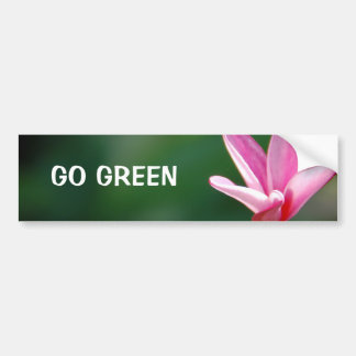 GO GREEN Bumper Sticker Car Bumper Sticker