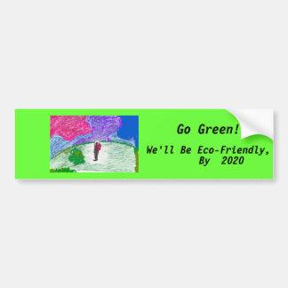 Go Green! bumpersticker Car Bumper Sticker