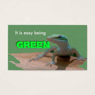Go green business card