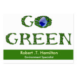 go green  Business Cards