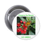 GO GREEN! Butterfly Colours of Spring Badges