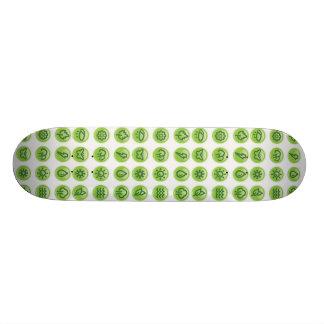 Go Green Buttons Custom Skate Board