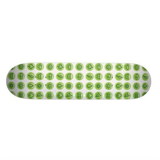 Go Green Buttons! Custom Skate Board