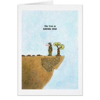 Go Green Cards, Save Trees Cartoon Greeting Card