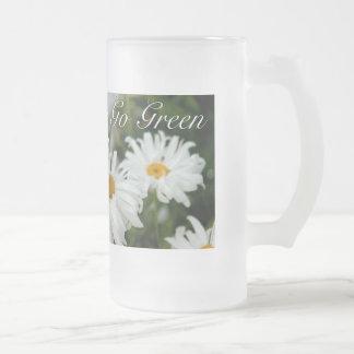 Go Green Daisies Frosty Mug