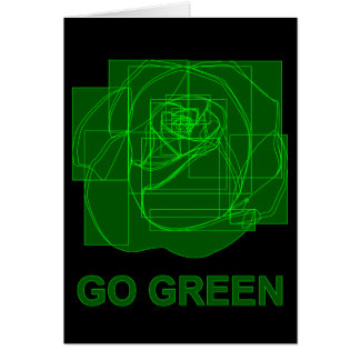go green : digital flower greeting card