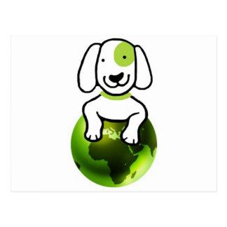 Go Green Dog Postcard