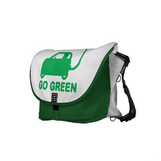 Go Green ~ Drive Electric Cars Courier Bag