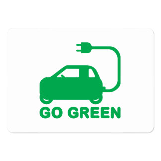 Go Green ~ Drive Electric Cars Pack Of Chubby Business Cards