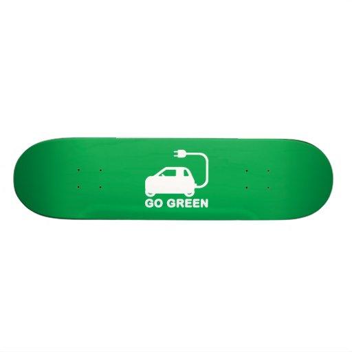 Go Green ~ Drive Electric Cars Skate Decks
