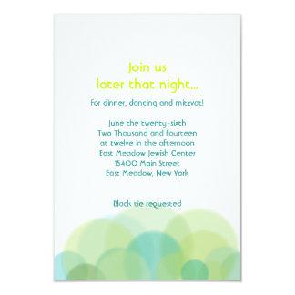 GO GREEN EARTH Bar Bat Mitzvah Party Card 9 Cm X 13 Cm Invitation Card