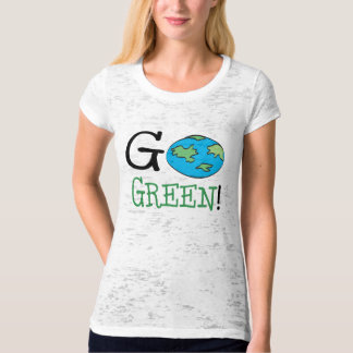 Go Green Earth Day T-shirts