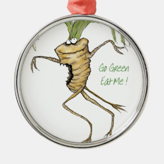 Go Green - Eat Me!, tony fernandes Christmas Ornament