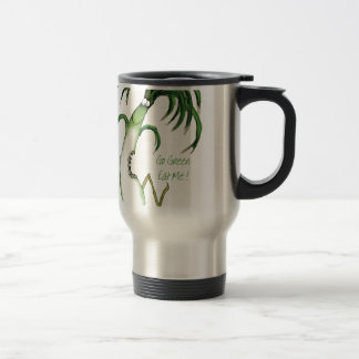 Go Green - Eat Me!, tony fernandes Travel Mug