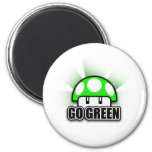 Go Green Eco Friendly Nature Mushroom Magnets