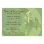 """Go Green"" Event Promotion Cards Pack Of Chubby Business Cards"