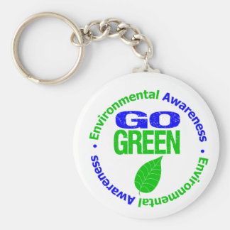 Go Green For The Environment Keychain