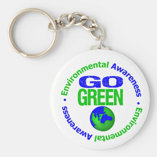 Go Green For the Environment v2 Key Chains
