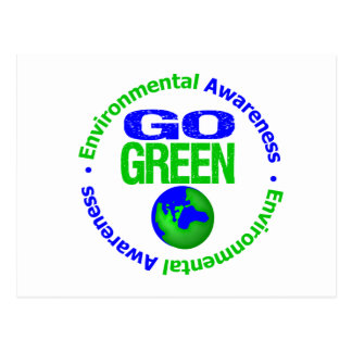 Go Green For the Environment v2 Postcard