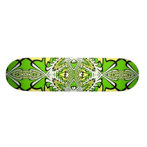 Go Green Fractal Art Skateboard