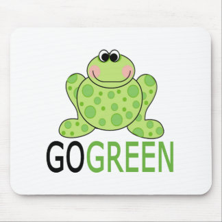 GO GREEN Frog Mousepads