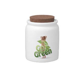 Go Green Girl Belle Candy Jars