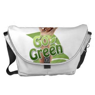 Go Green Girl Belle Courier Bags