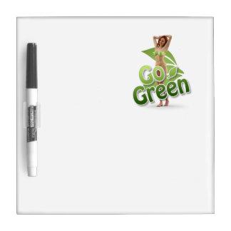 Go Green Girl Belle Dry-Erase Whiteboard
