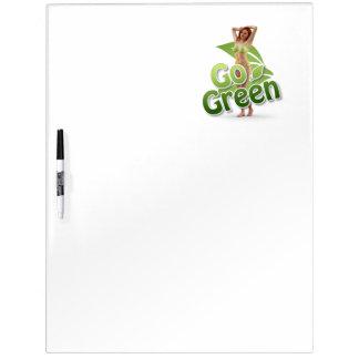 Go Green Girl Belle Dry Erase Whiteboard