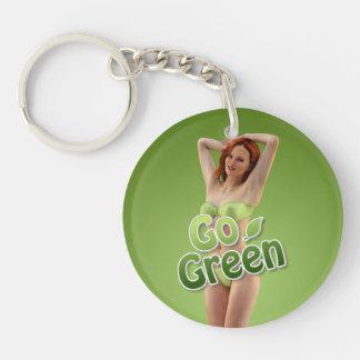 Go Green Girl Belle Key Ring