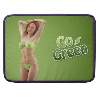Go Green Girl Belle Sleeves For MacBooks