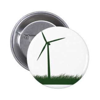 Go Green, Go Clean, Go Renewable 6 Cm Round Badge