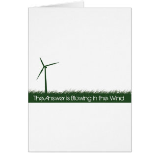 Go Green, Go Clean, Go Renewable Card